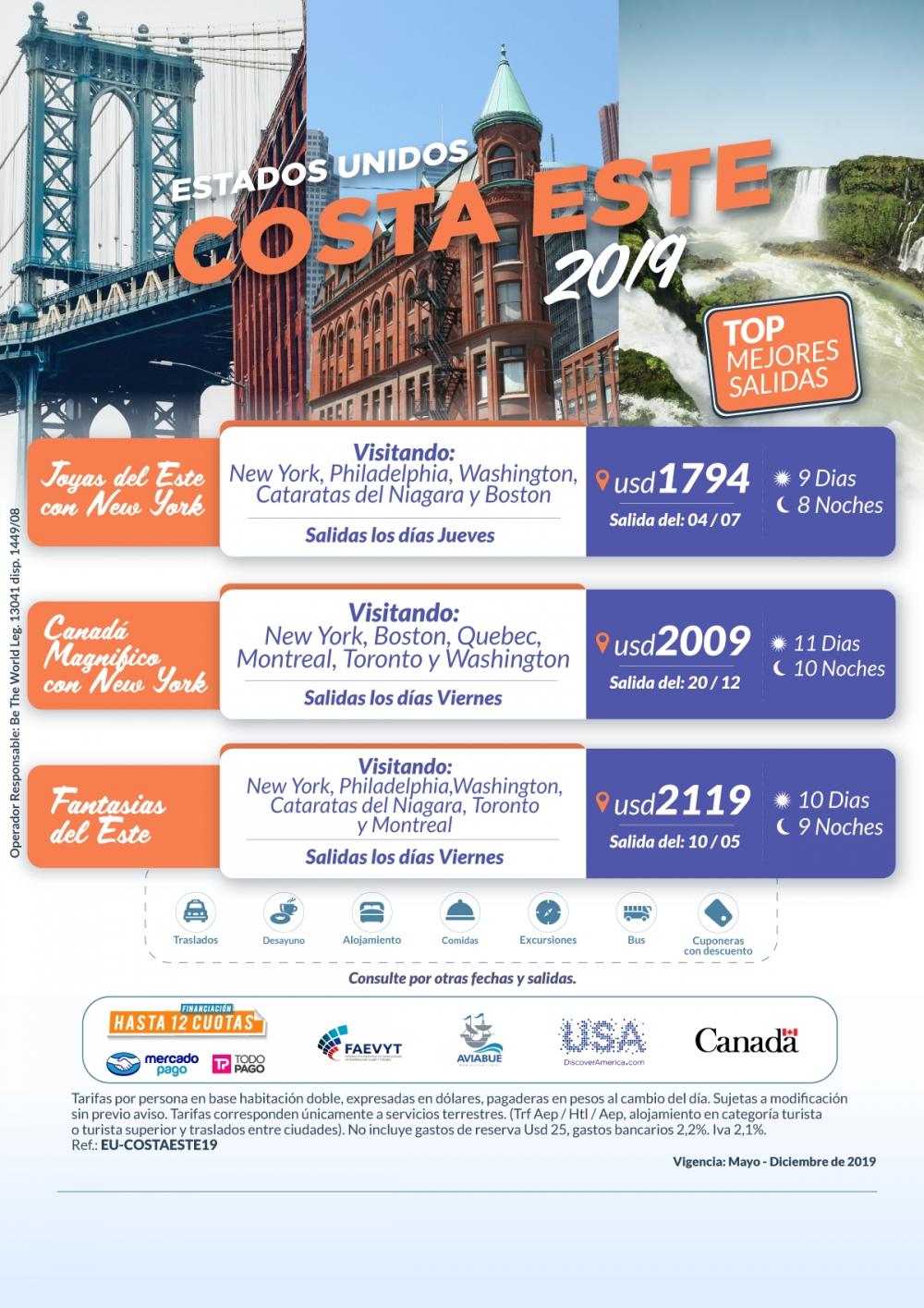 CIRCUITOS - Costa Este 2019