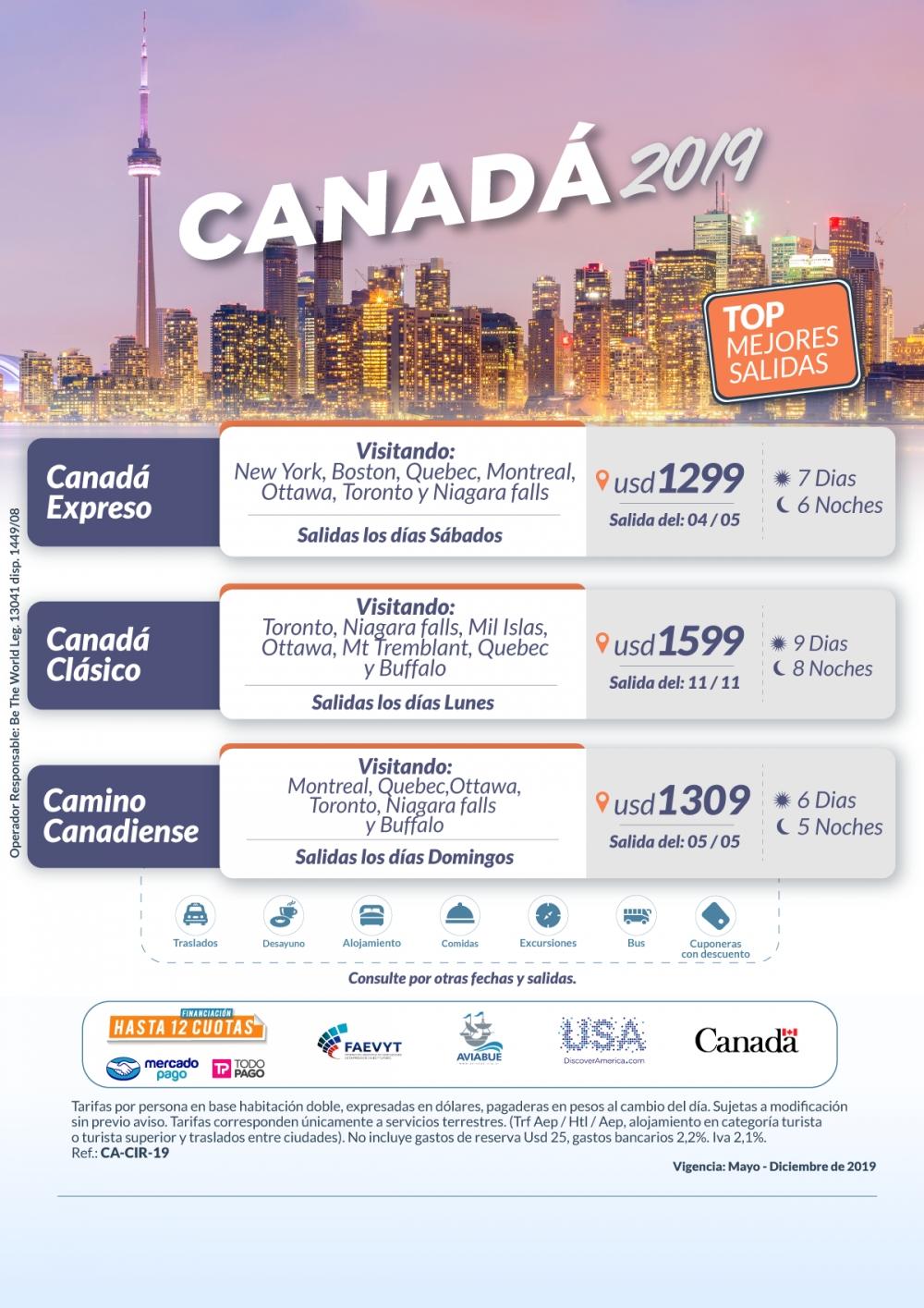 CIRCUITOS - Canadá 2019