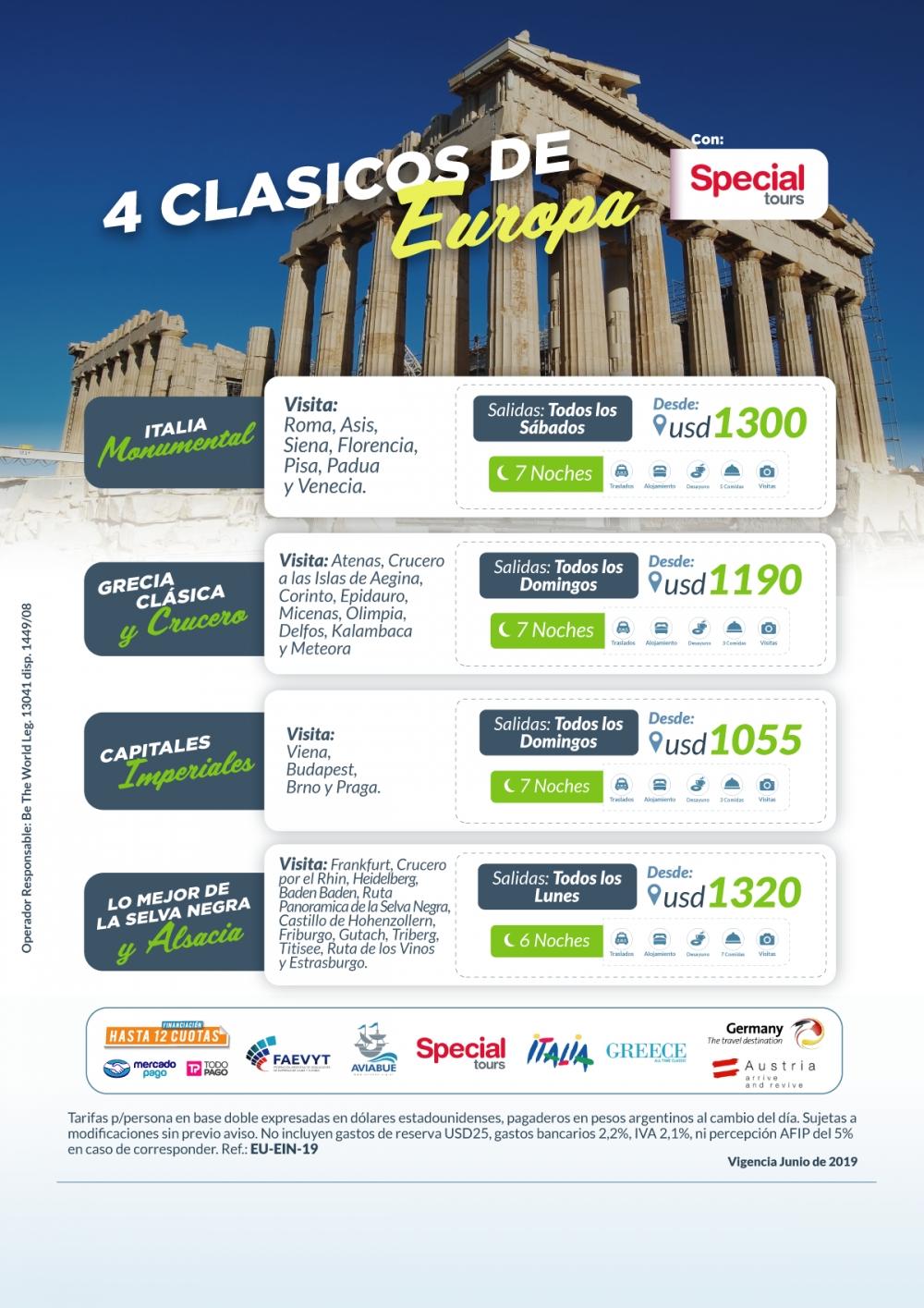 4 Clásicos de Europa con Specialtours