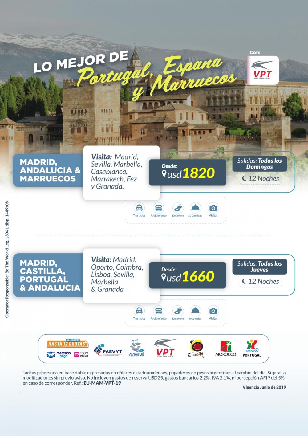 Lo Mejor de Portugal , España y Marruecos