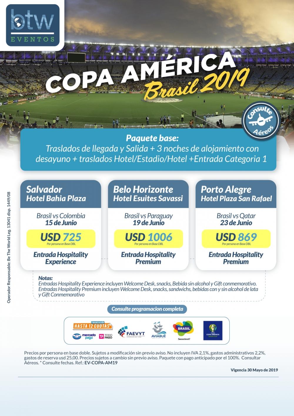 Copa América - Programa Primera Fase 1 Partido