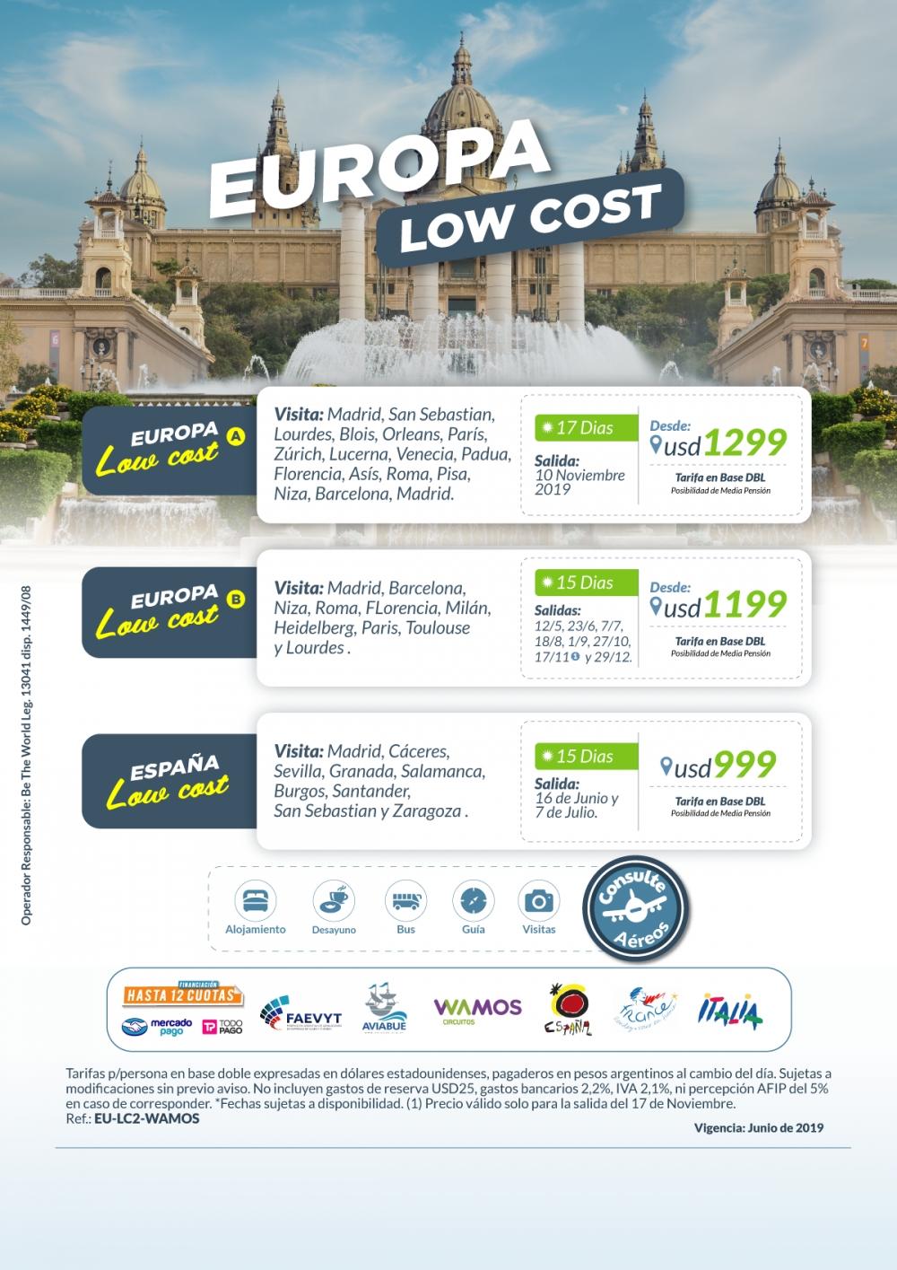 EUROPA LOW COST - Salidas Mayo a Diciembre