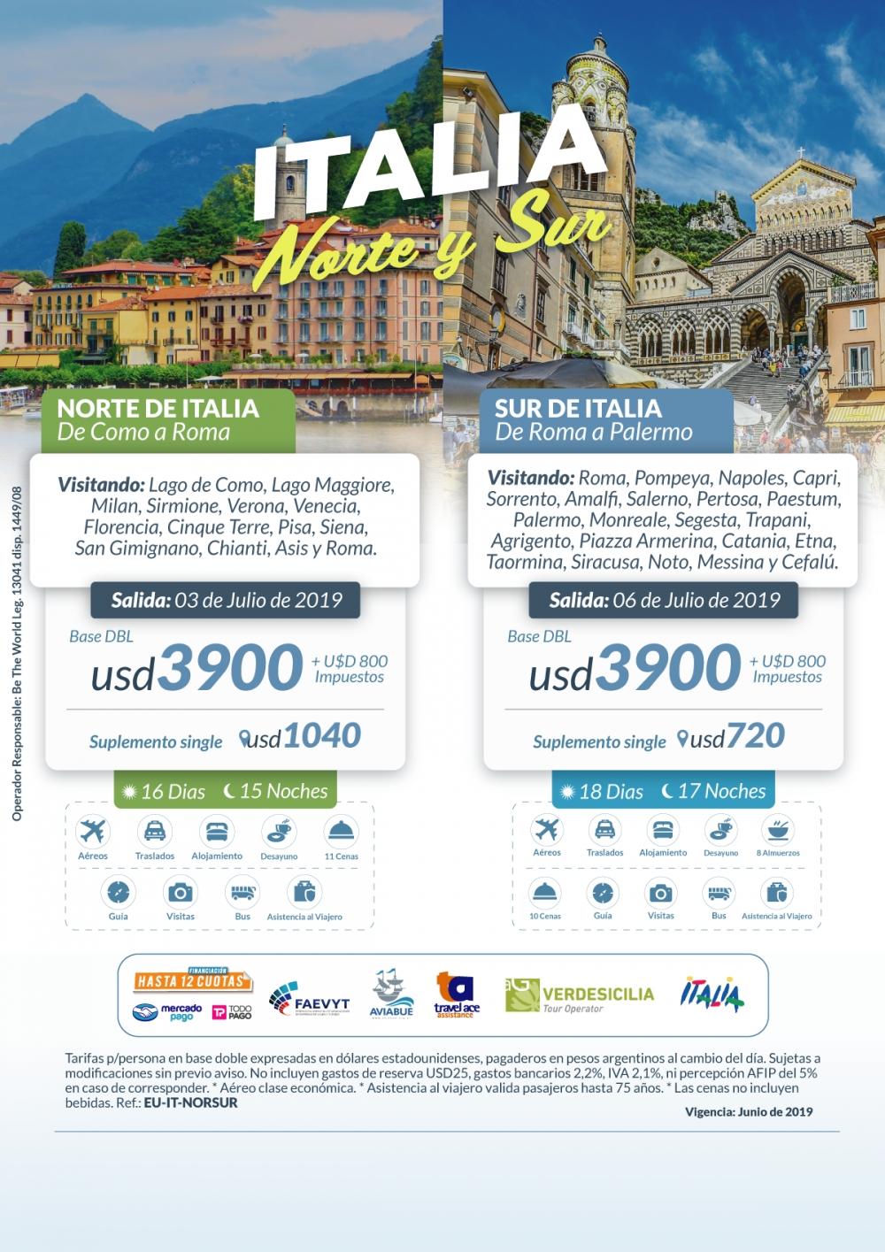 ITALIA - Norte y Sur