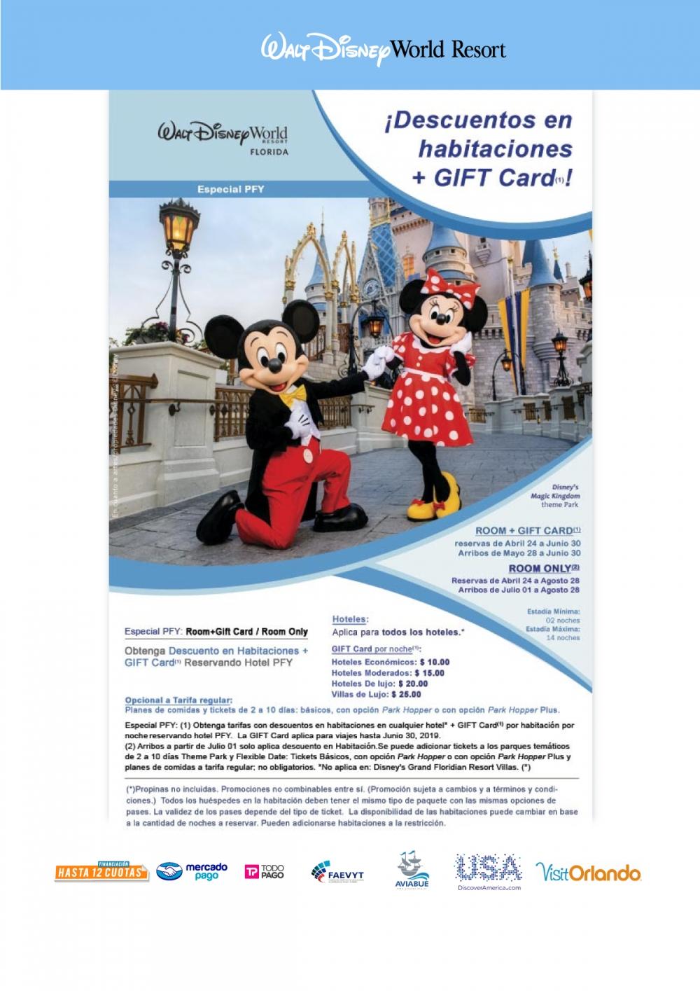 Walt Disney World - Descuento en Habitaciones