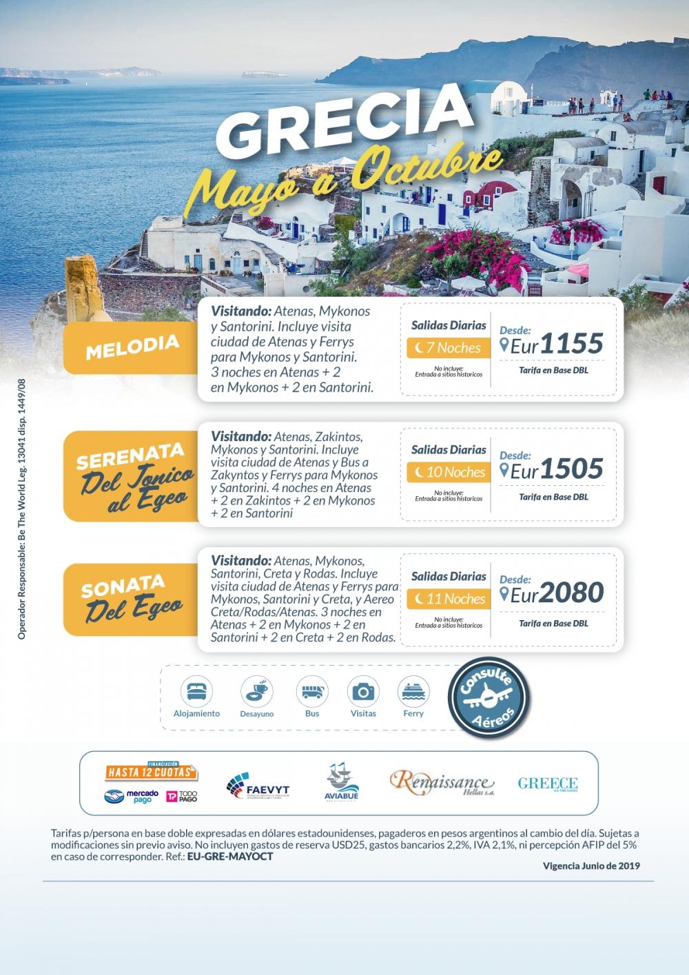 GRECIA - Mayo a Octubre