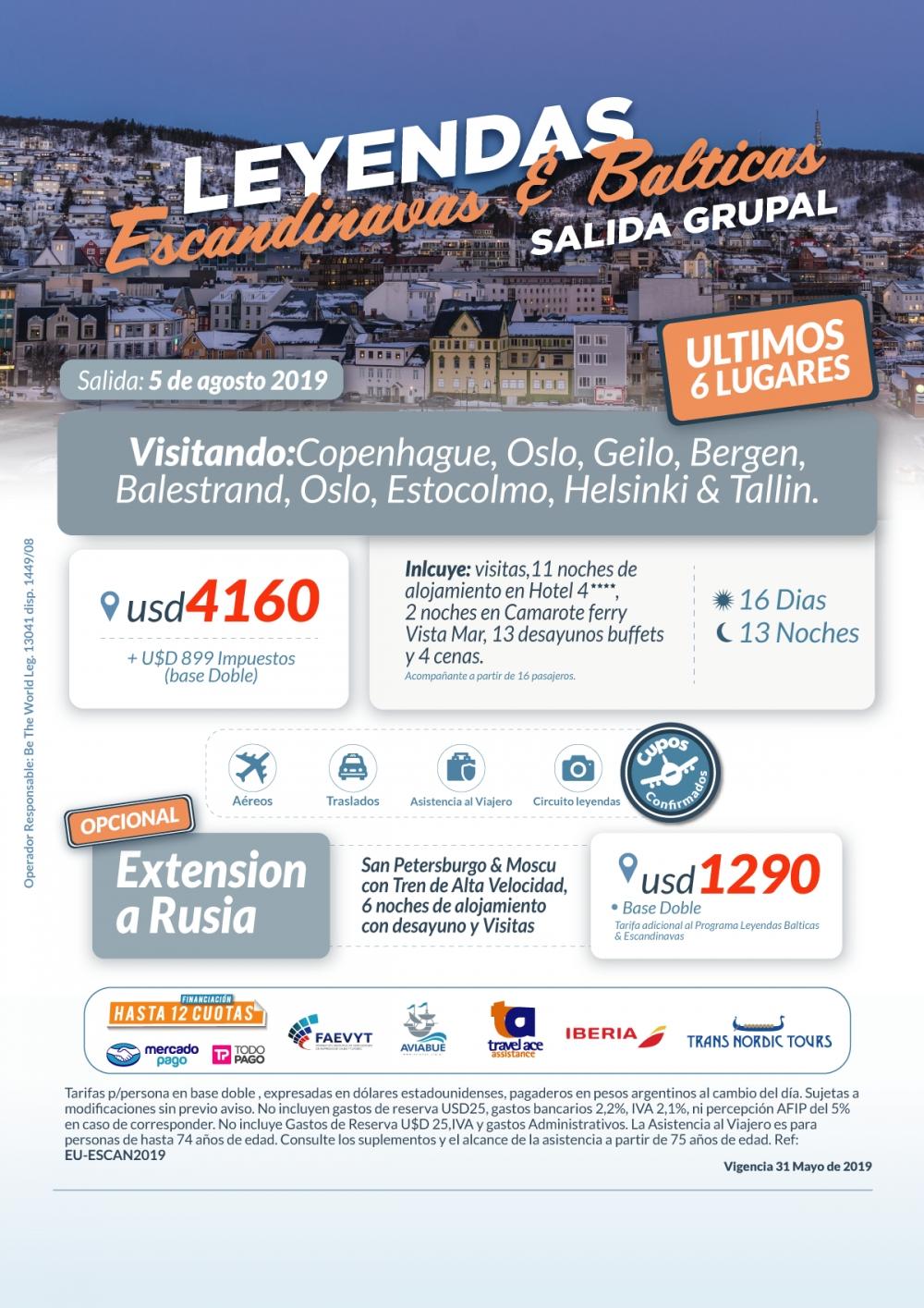 SALIDA GRUPAL 05 DE AGOSTO 2019  - Leyendas Escandinavas & Bálticas