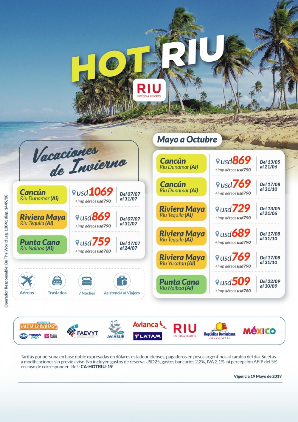 OFERTA - Hot Sale con Hoteles Riu