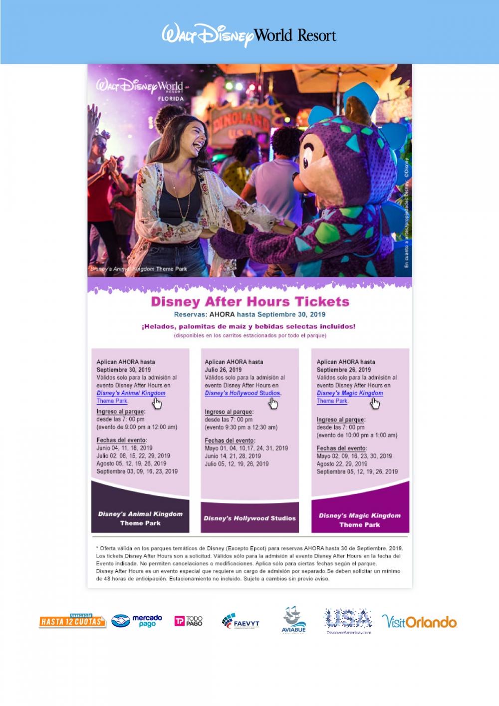 Walt Disney World - Disney After Hours Tickets