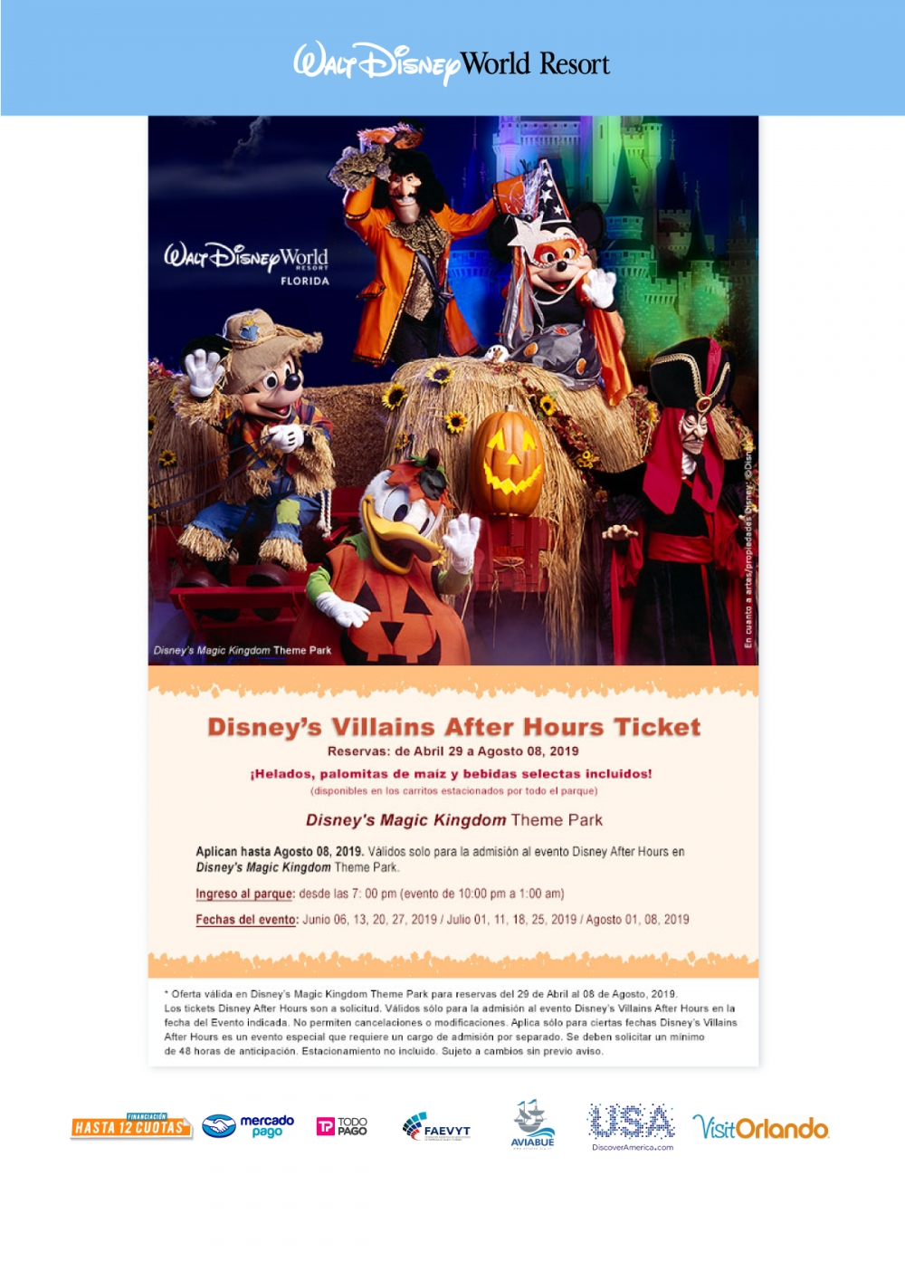 Walt Disney World - Disney's Villains After Hours Ticket