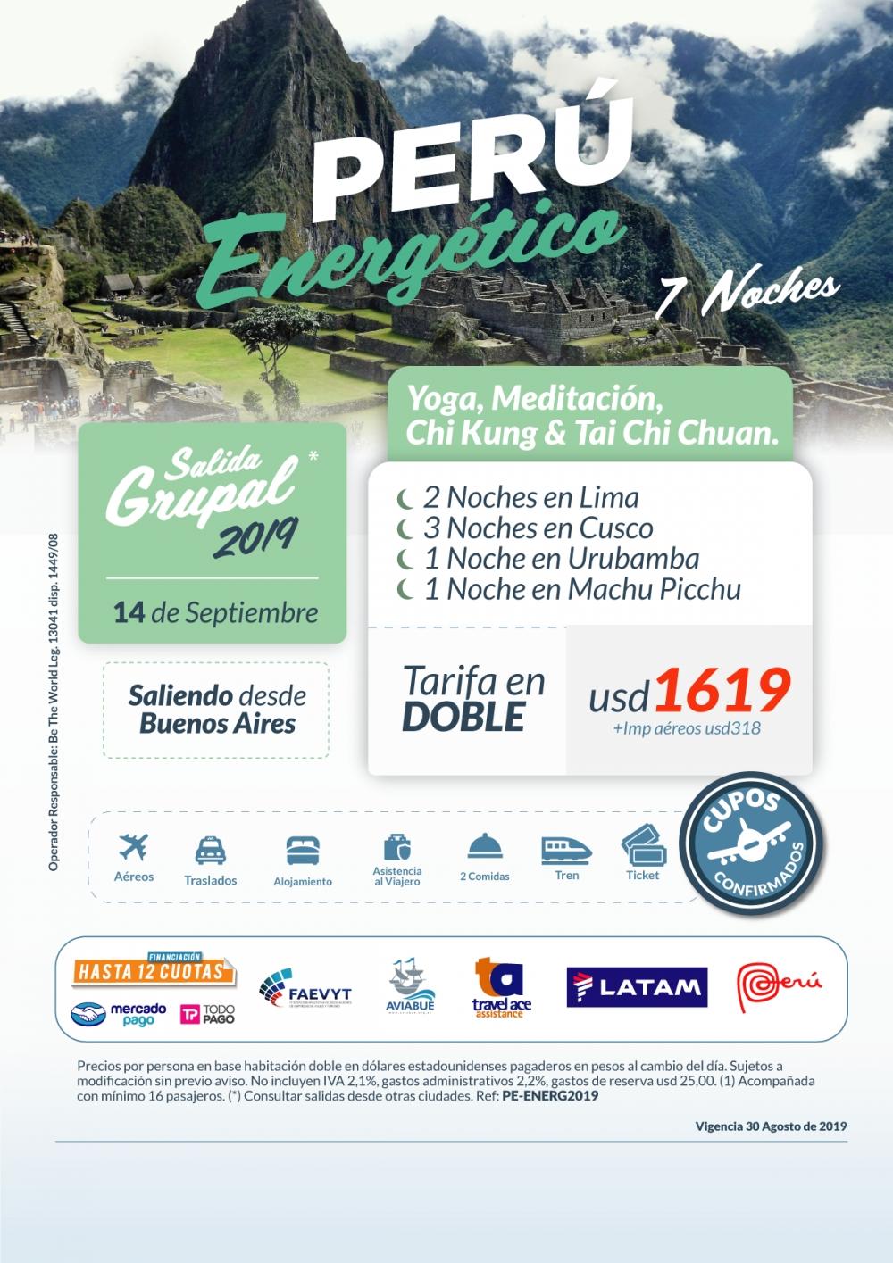 PERU ENERGÉTICO - Salida grupal  - 14 de Septiembre