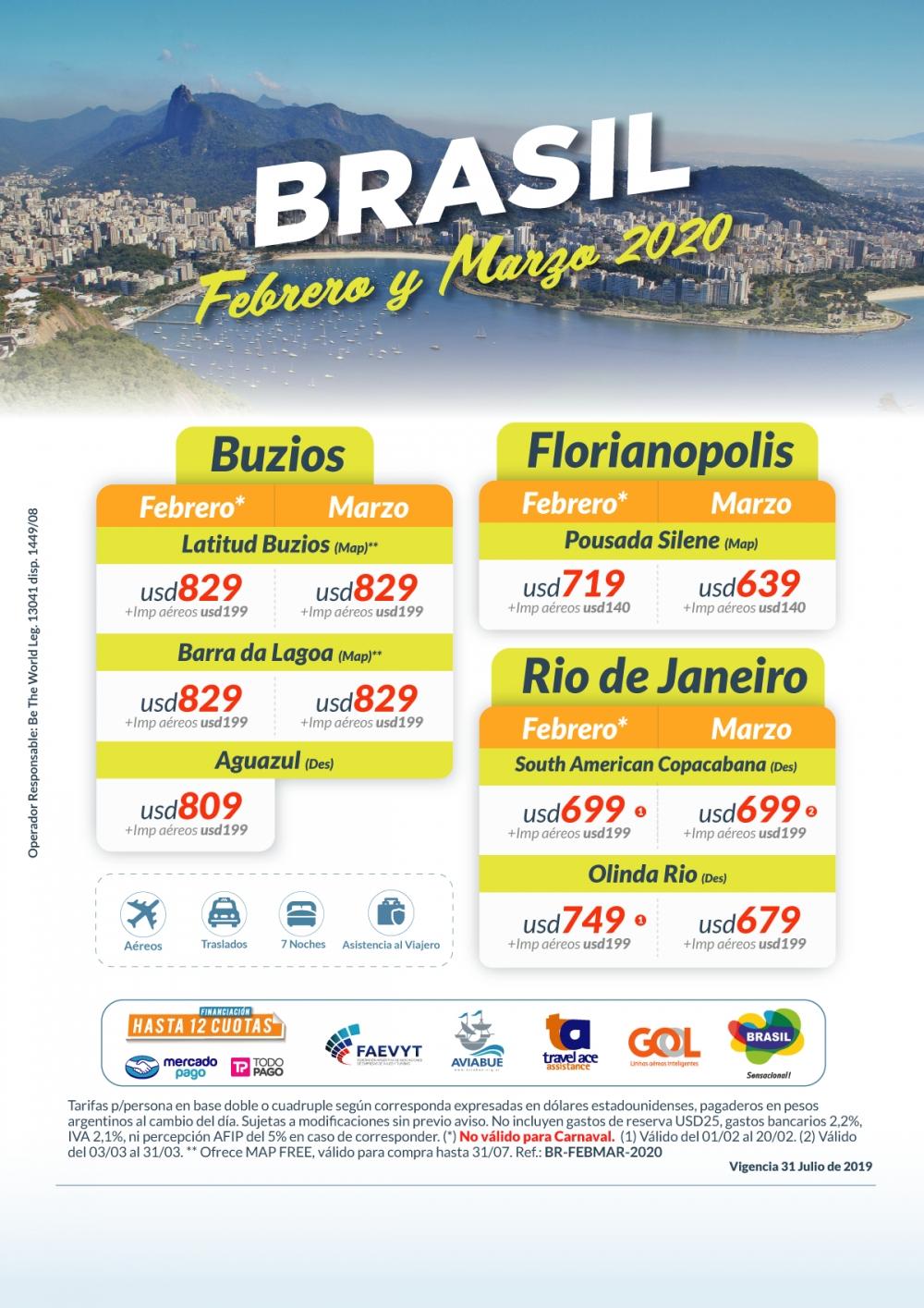 BRASIL - Febrero y Marzo 2020