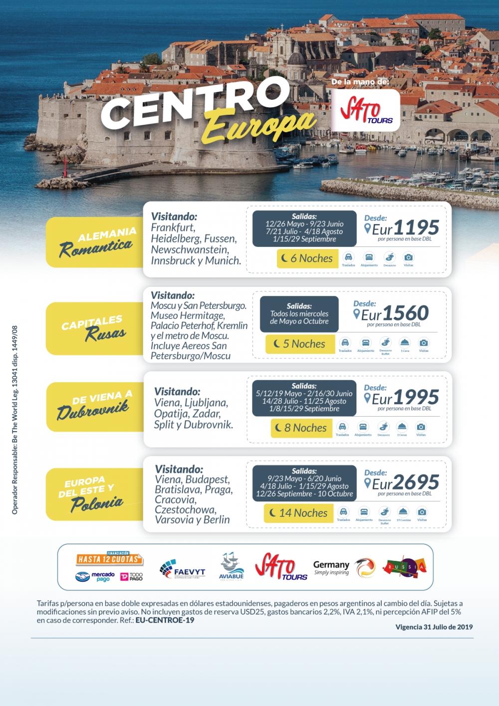 CENTRO EUROPA - Con Sato