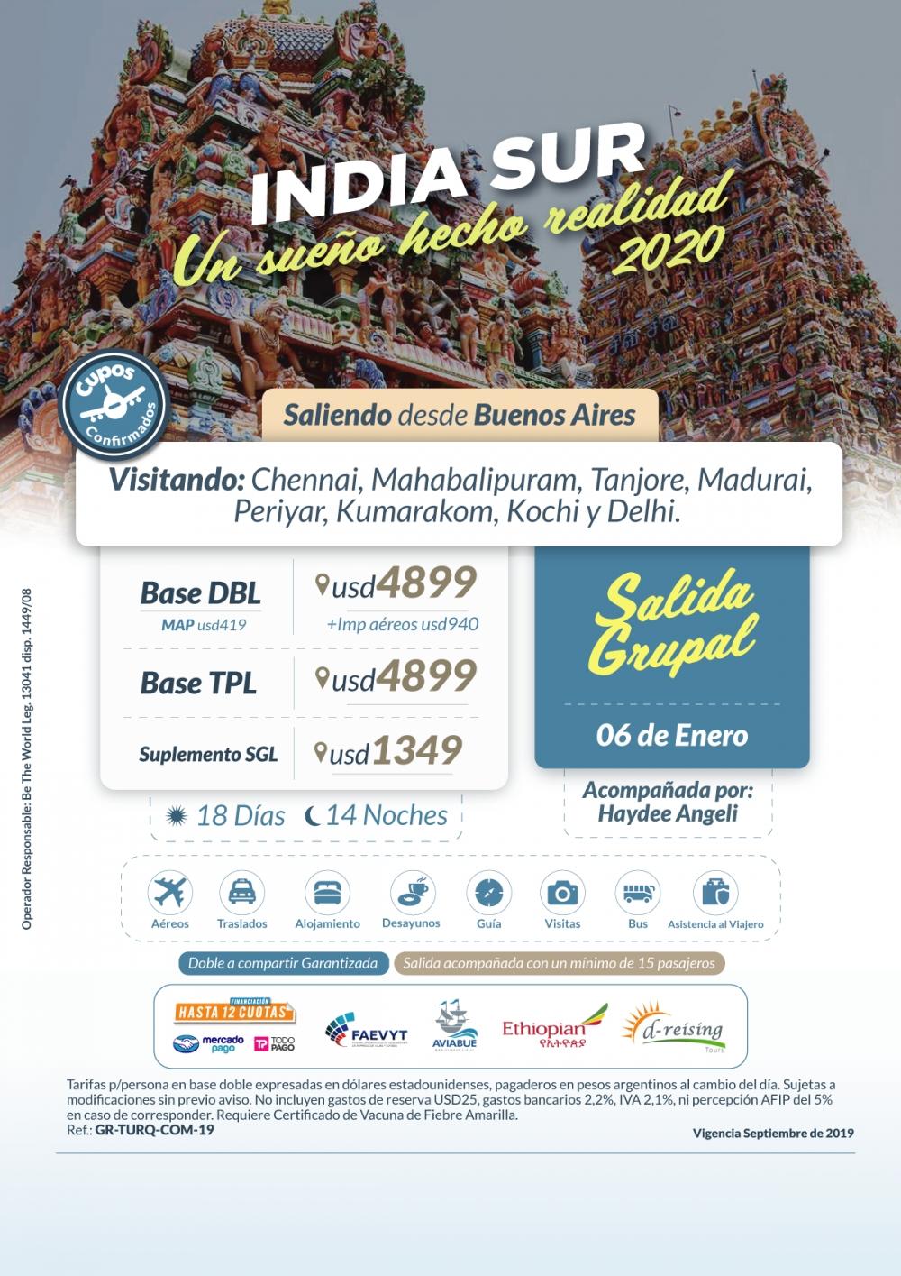 INDIA SUR - Salida Grupal - 06 de Enero del 2020