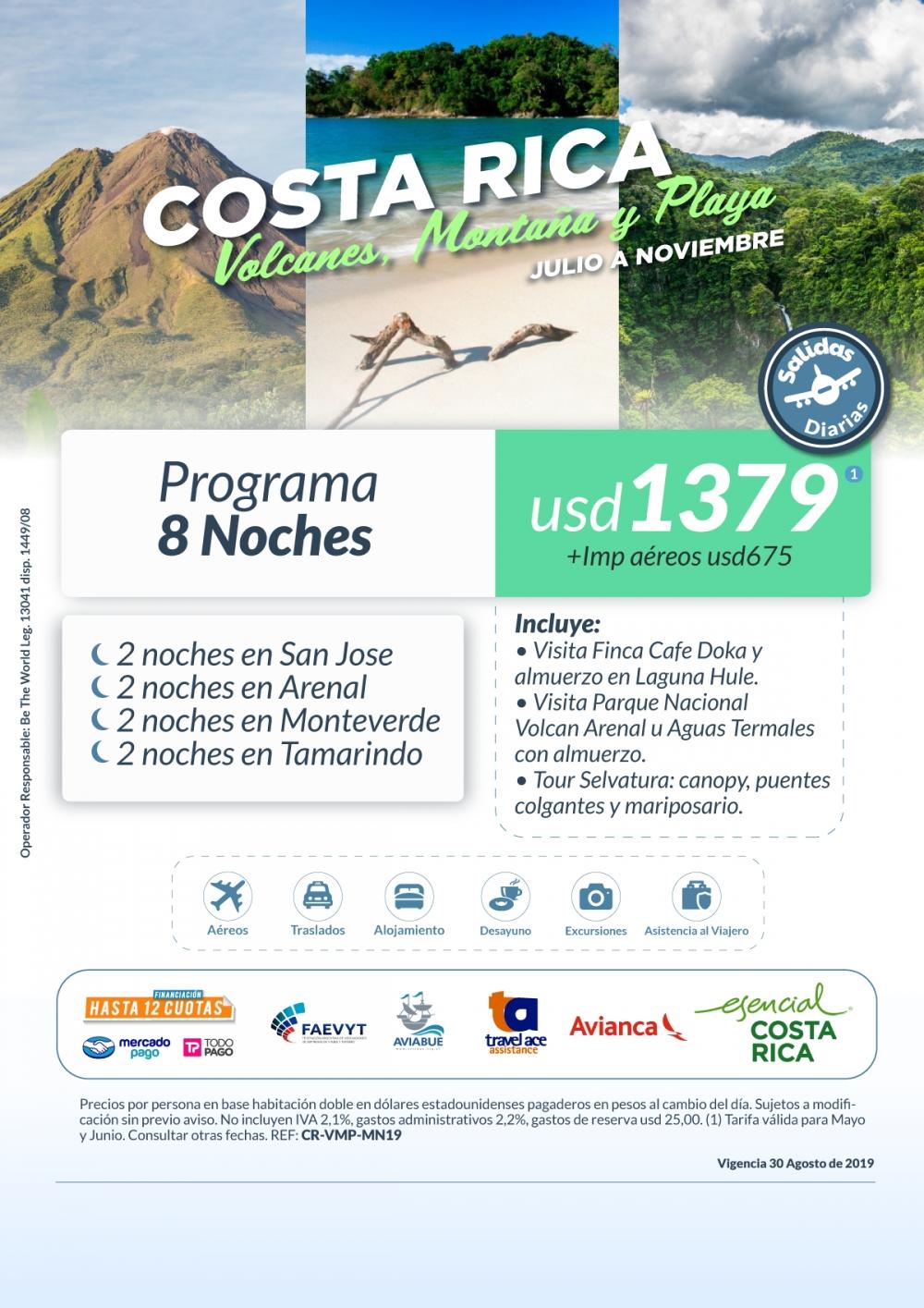 COSTA RICA - Salidas Mayo a Noviembre
