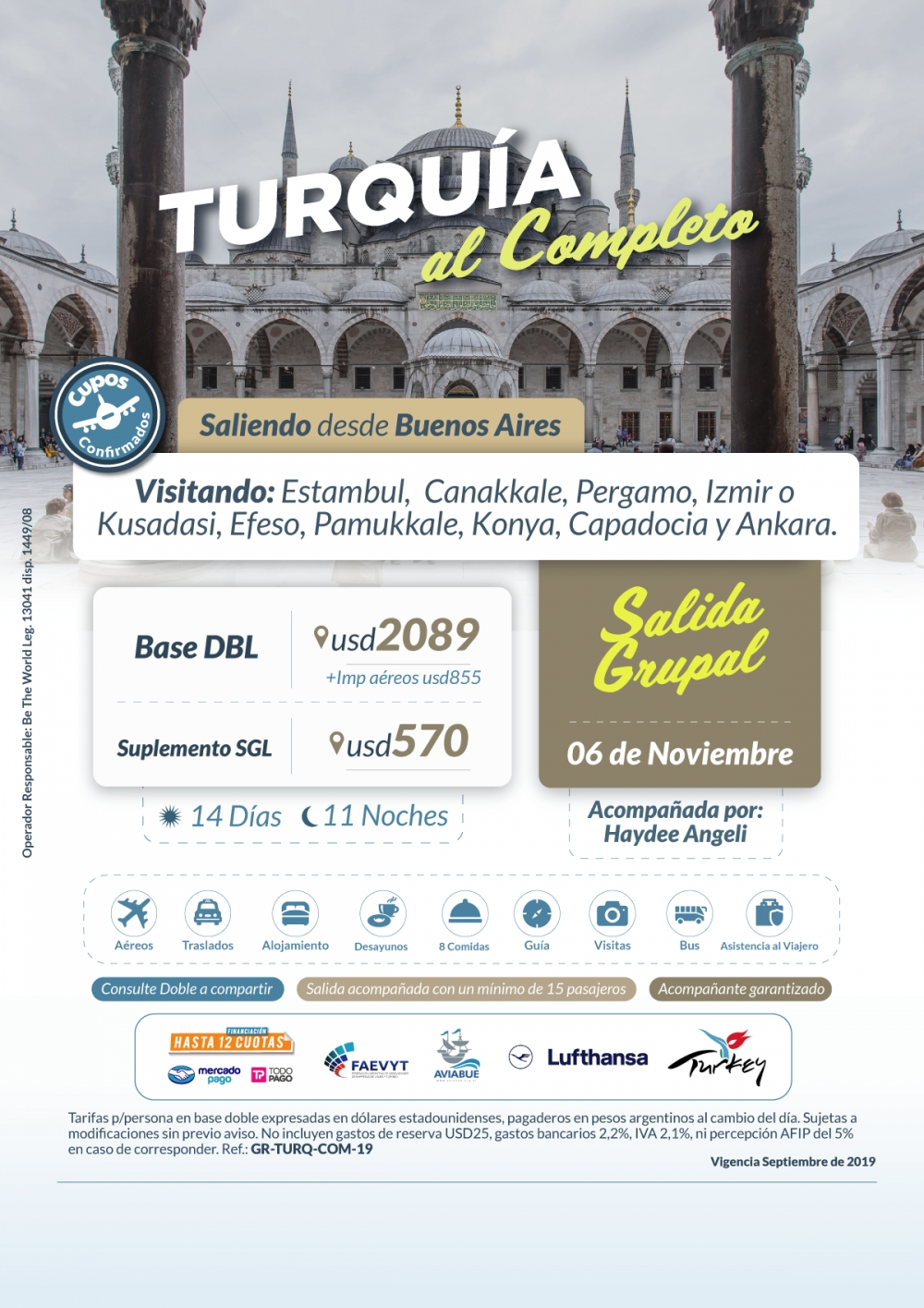 TURQUIA AL COMPLETO - Salida Grupal - 06 de Noviembre